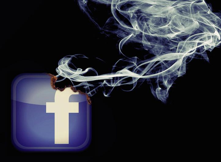Facebook burn