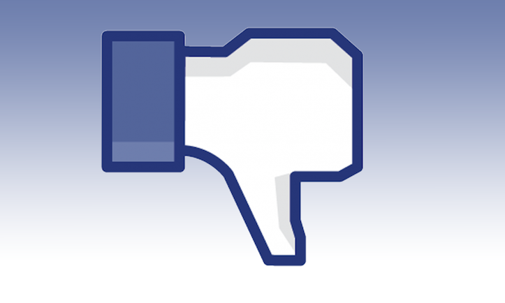 Facebook dislike button blue