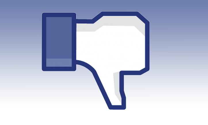 Facebook dislike button blue