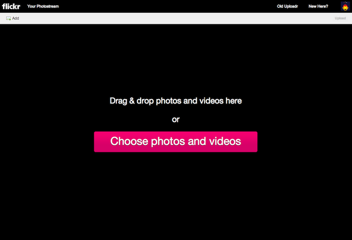 how to upload photos to Flickr