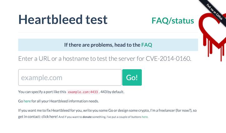Heartbleed test