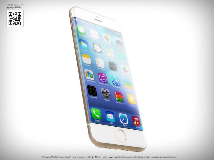 IPhone 6 with curved displays
