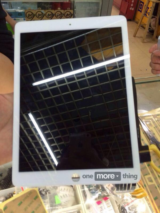 ipad air front panels leak