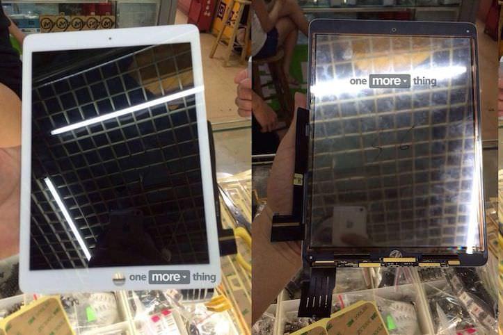 ipad air front panels leak