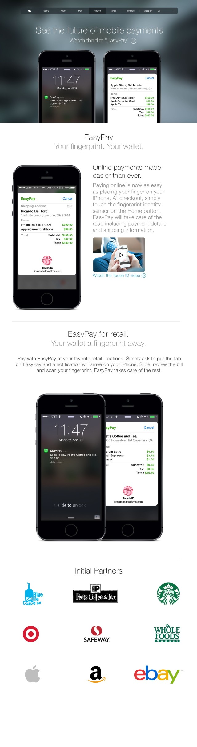 iPhone mobile payments easeypay 1