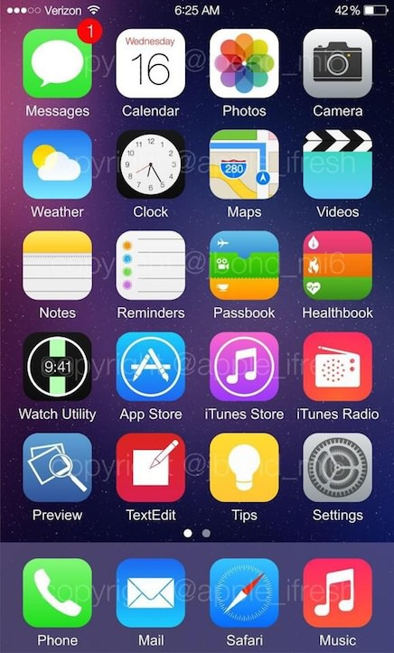 iPhone 5s with iOS 8