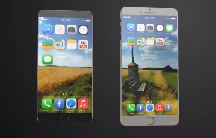 iPhone 6の5.5インチモデルと4.7インチモデルの比較