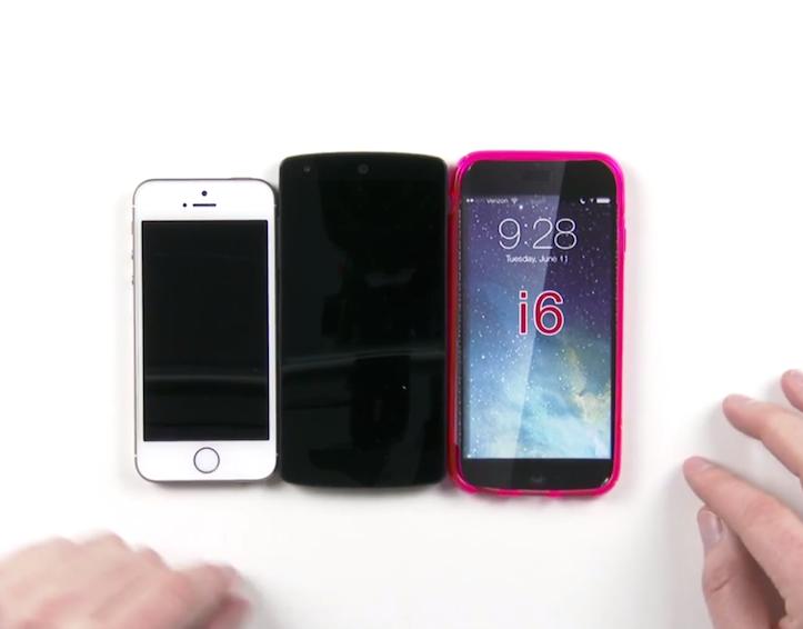 iPhone 6はNexus 5とサイズがほとんど同じ