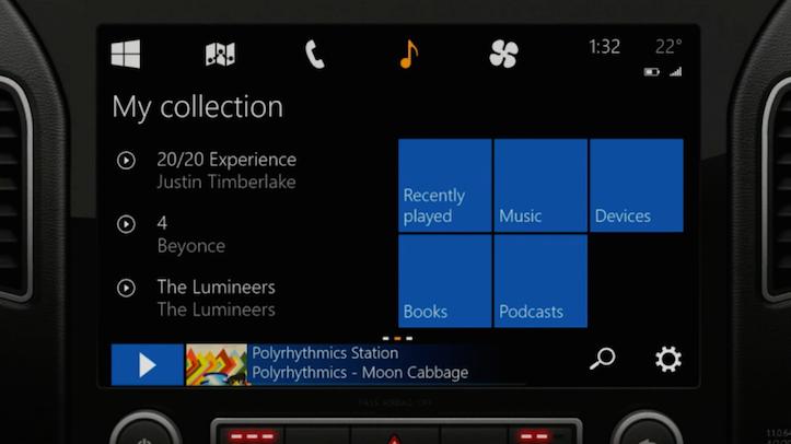 Microsoft In The Car Start Screen