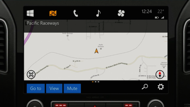 Microsoft In The Car Maps