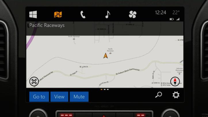 Microsoft In The Car Maps