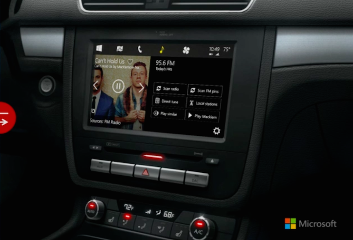 Microsoft In The Car