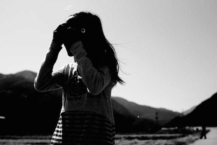 Photo taking girl
