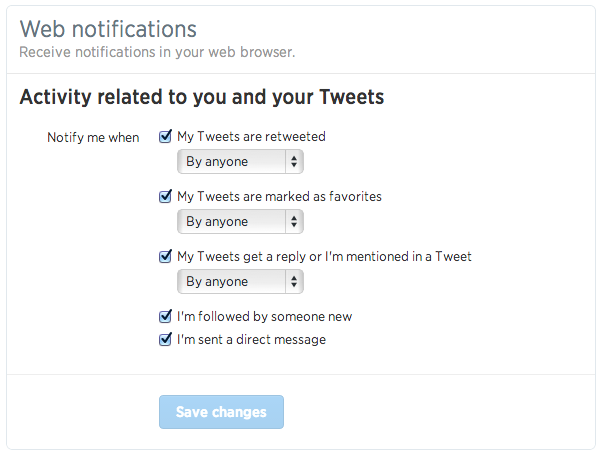 Twitter 通知機能