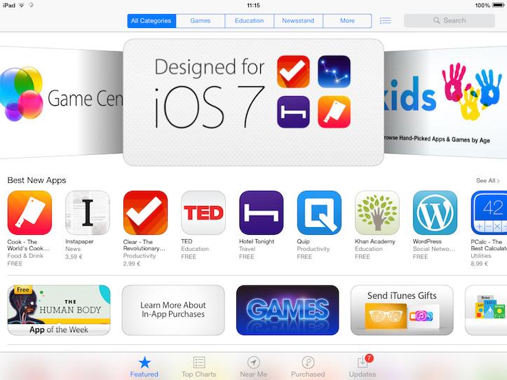App store tweaks