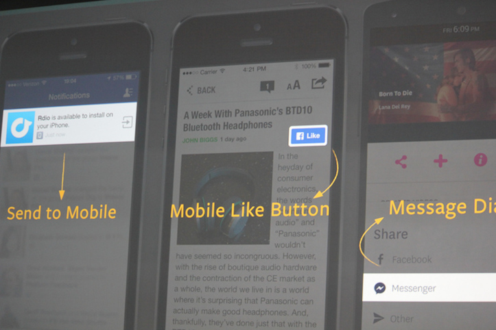 Facebook mobile like button
