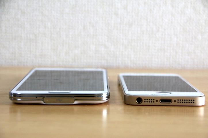 Galaxy S5とiPhone 5sを比較してみた