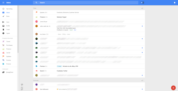 Gmail new design