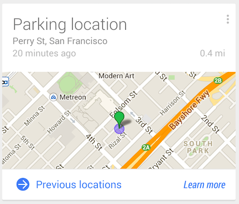 Google now location