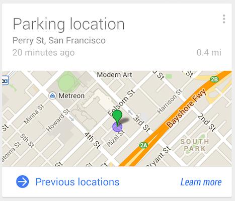 Google now location