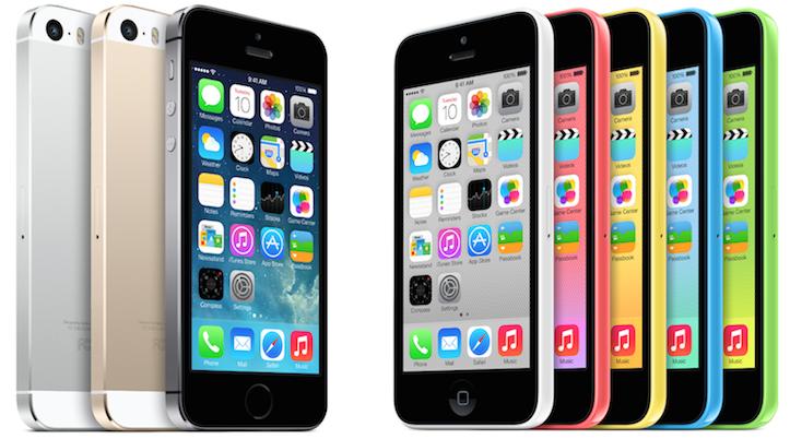 iPhone 5s、iPhone 5c