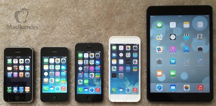 「iPhone 6」のケースを他のモデルと比較