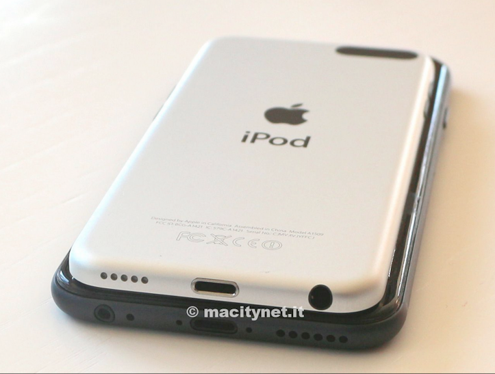 iPhone 6 compared to ipodtouch