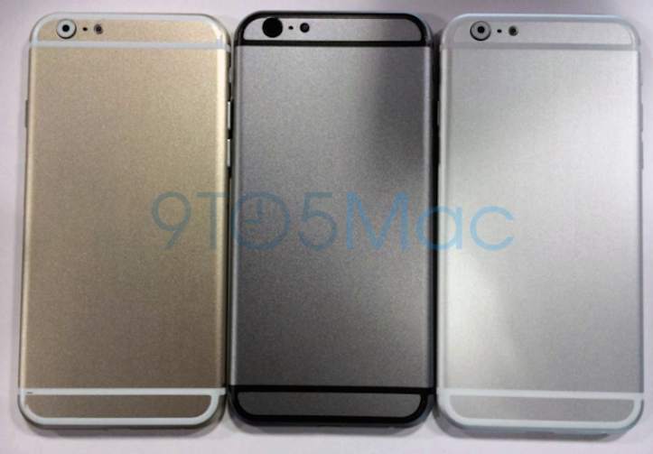 iPhone 6 mockup in three colors