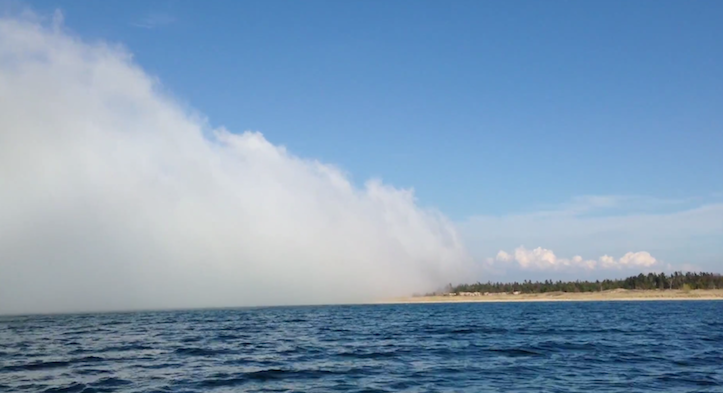 Lake michigan huge fog