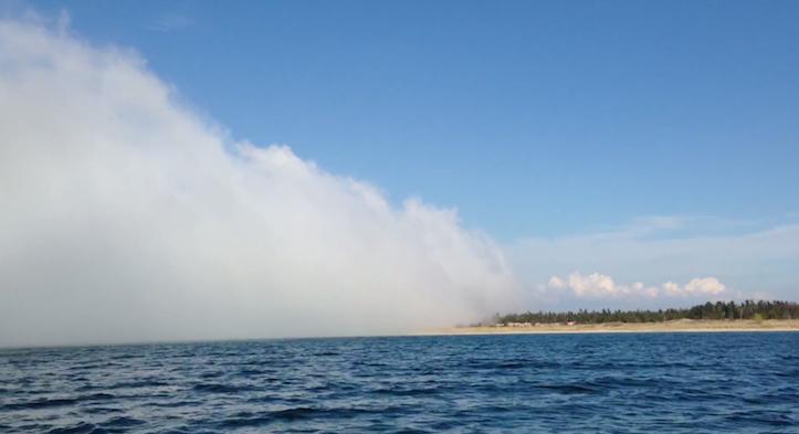 Lake michigan huge fog