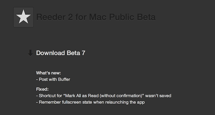 Reeder for mac beta