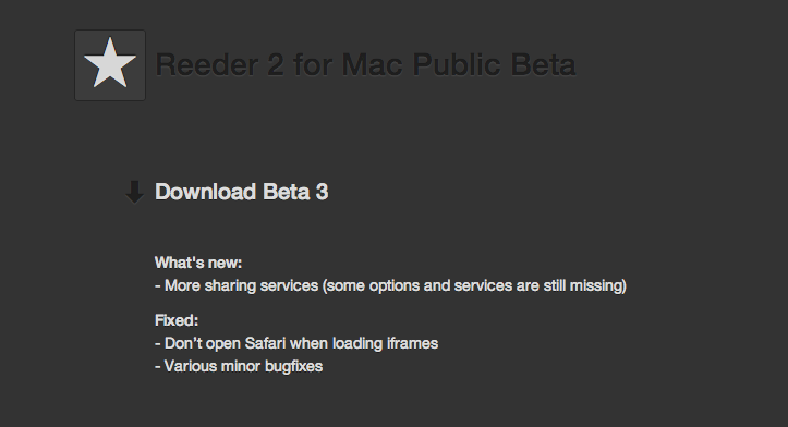 Reeder2 beta 3