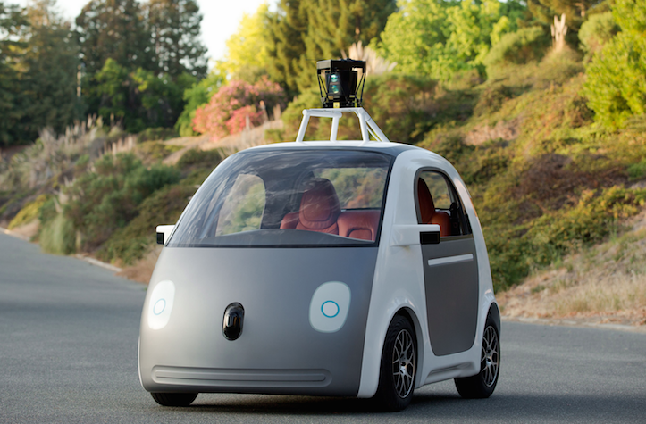 Self driving prototype google car