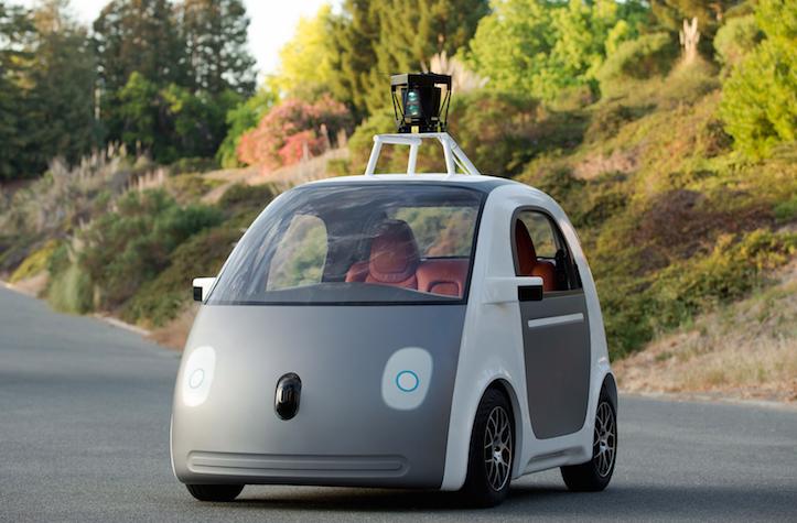 Self driving prototype google car