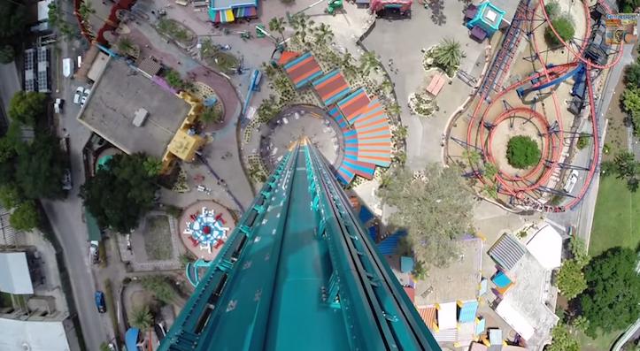 Terrifying jet coaster