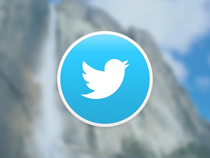 「OS X Yosemite」に最適化されたTwitterアイコン