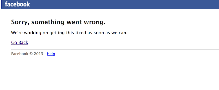 Facebook is down