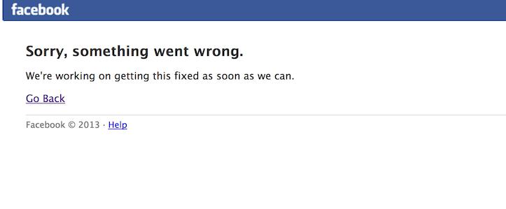Facebook is down