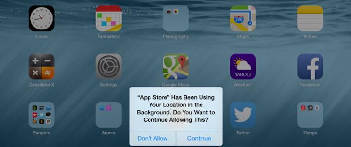 iOS8 location data prompt