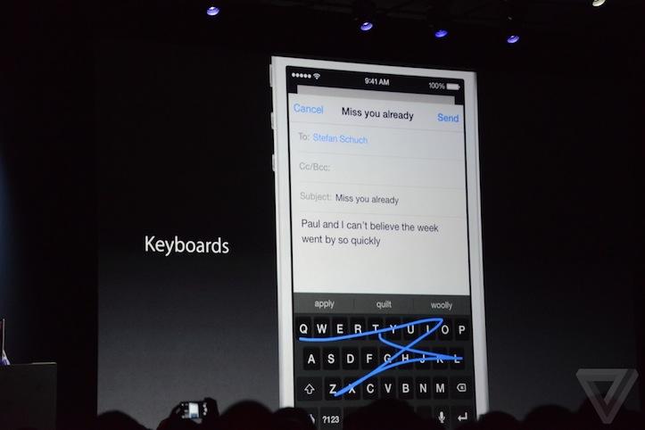 iOS 8のサードパーティ製キーボード