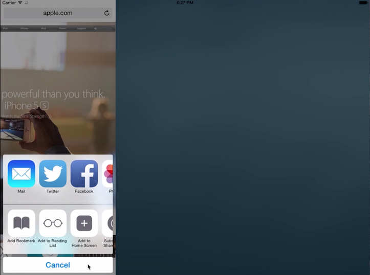 iPadの画面分割マルチタスク機能