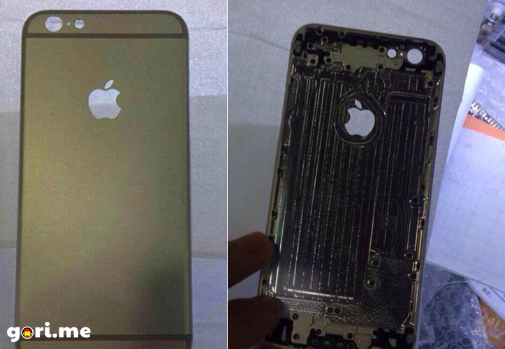 iPhone 6のゴールドモデルのバックパネルがリークか?!