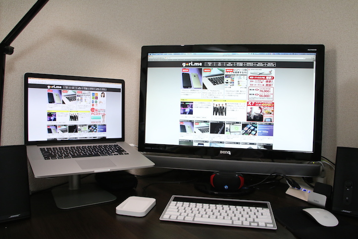 MacBook Pro Retinaを外部ディスプレイとして使う場合の解像度