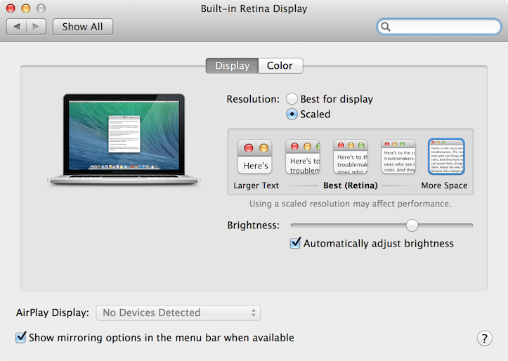 Macbookpro retina display