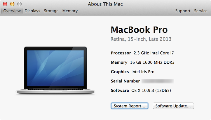 My macbook pro retina
