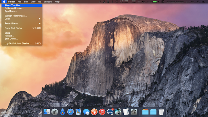 Os x yosemite dark mode 1