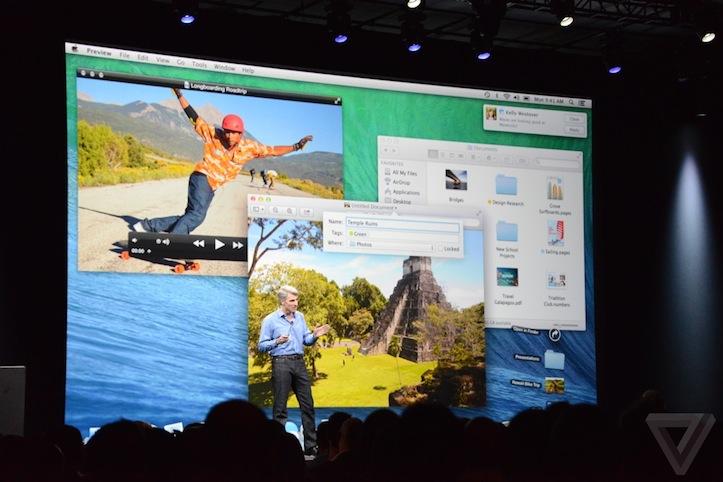 「OS X Yosemite」のデザインUI