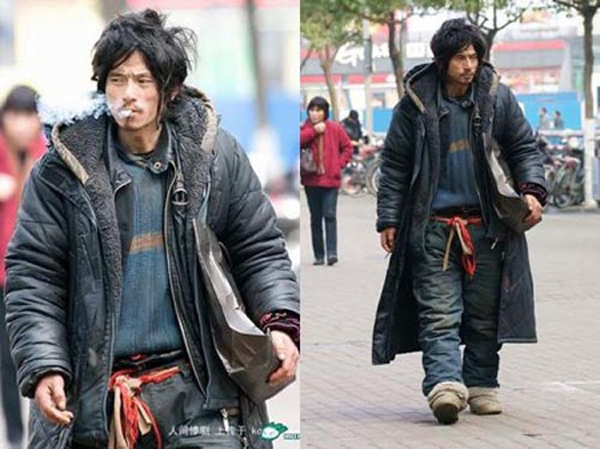 Chinese homeless fashion icon