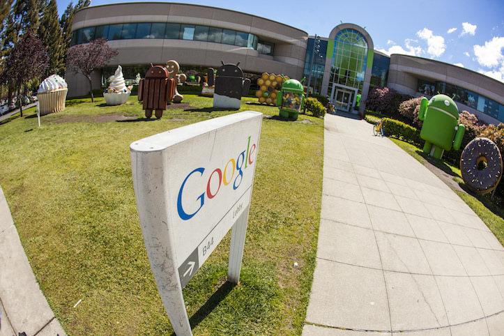 Google fish eyed view