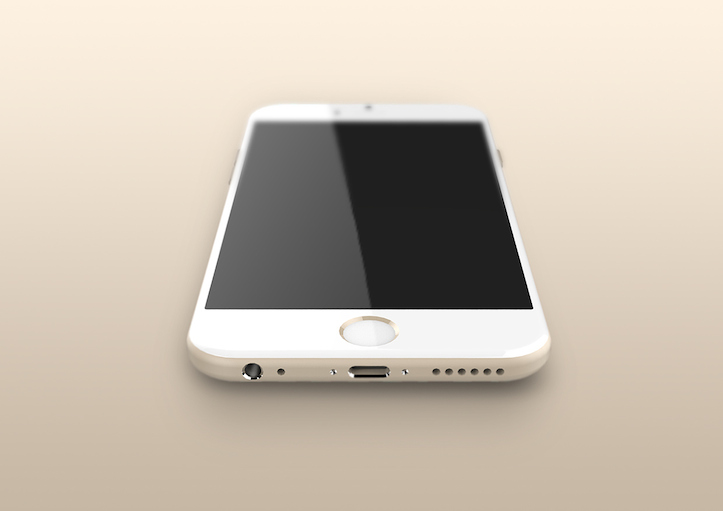 iPhone 6 gold model rendering